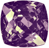 uGems Purple CZ Square Cushion Facet Unset Loose Gemstone 23mm