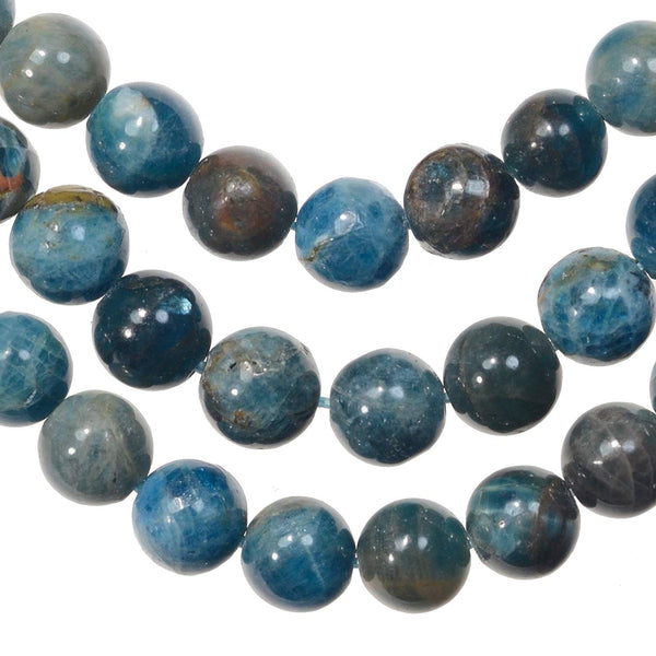 Apatite 8mm Matrix Round Beads Strand 15.75""
