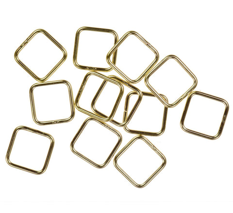 12 14K Gold Filled Jump Ring Square 20ga 8mm Closed Rings
