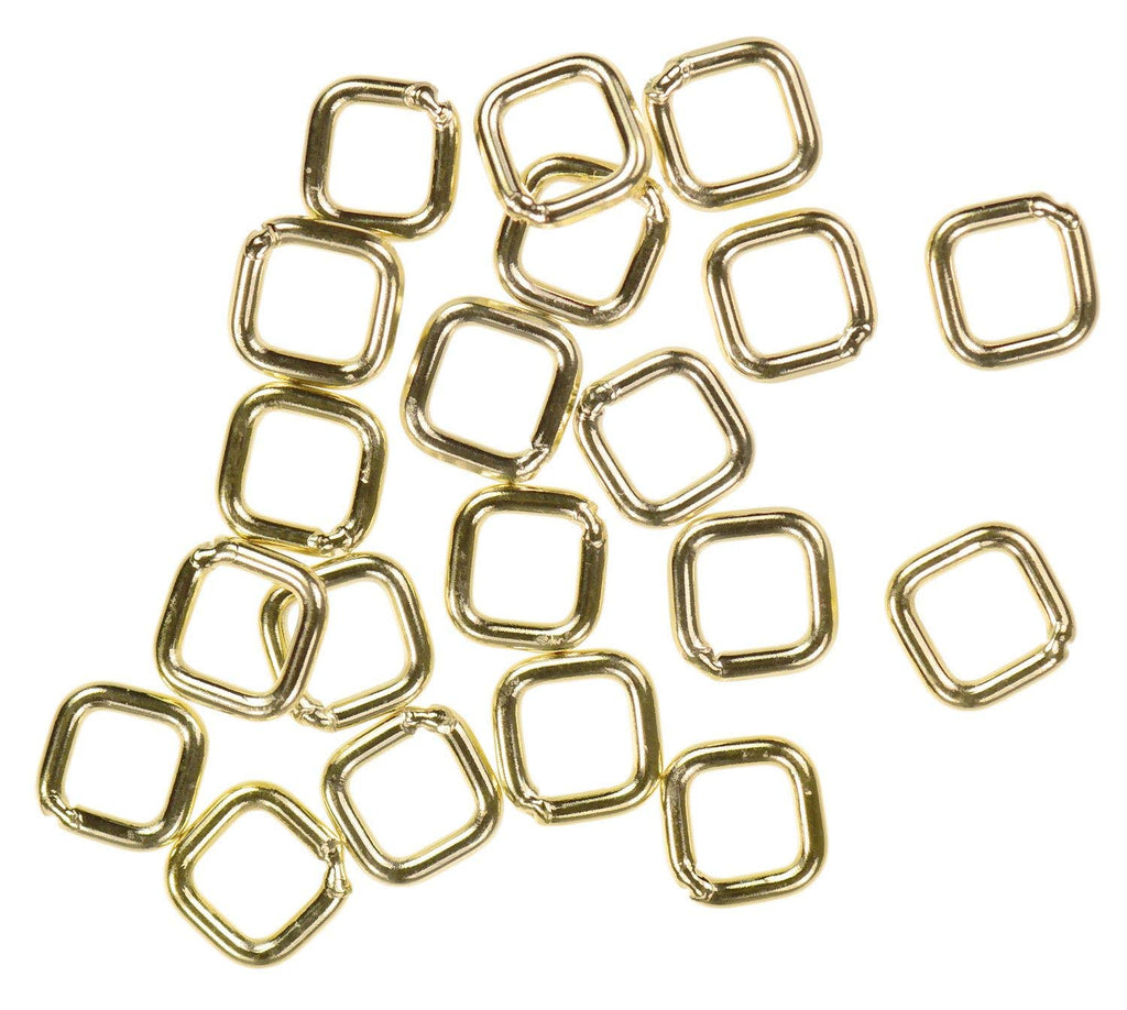 20 14K Gold Filled Jump Ring Square 20ga 4mm Closed Rings