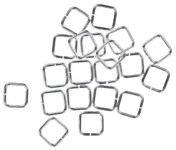 20 Sterling Silver Jump Ring Square 20ga 6mm Open Rings