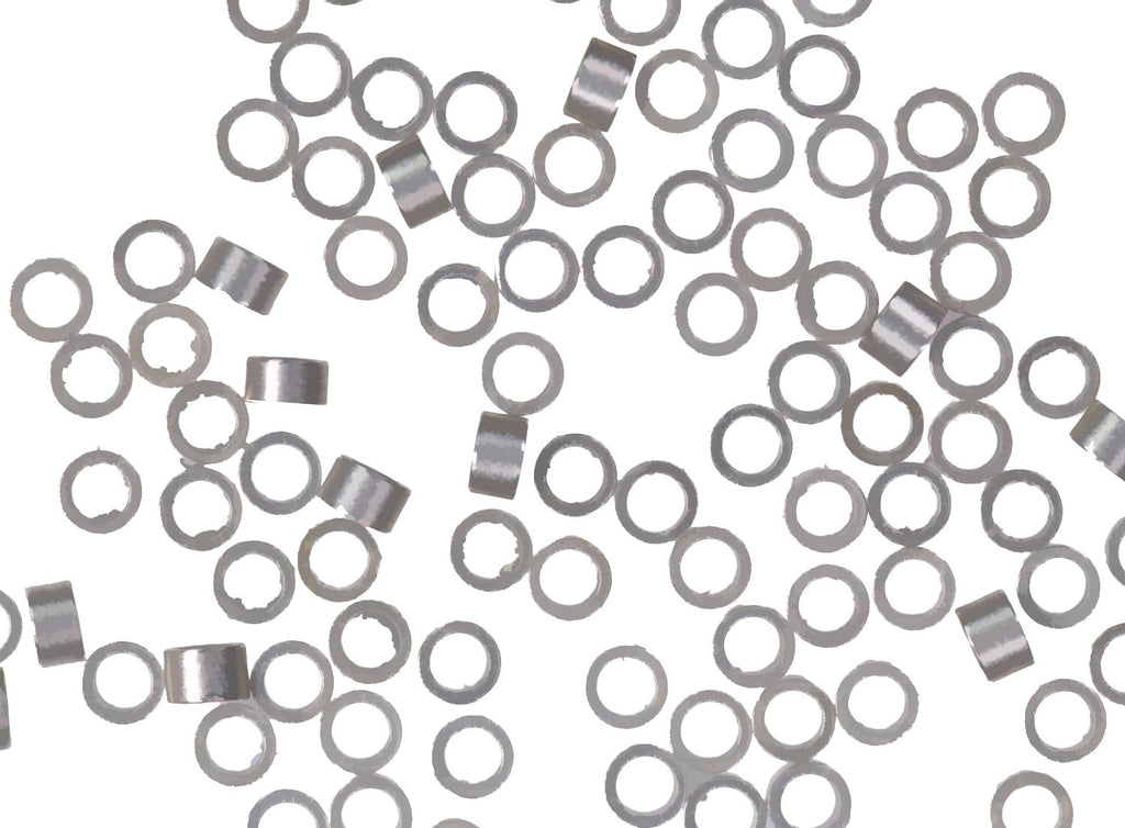 Argentium Silver Crimp Beads 0.8mm x 1.5mm with 1mm ID (96)