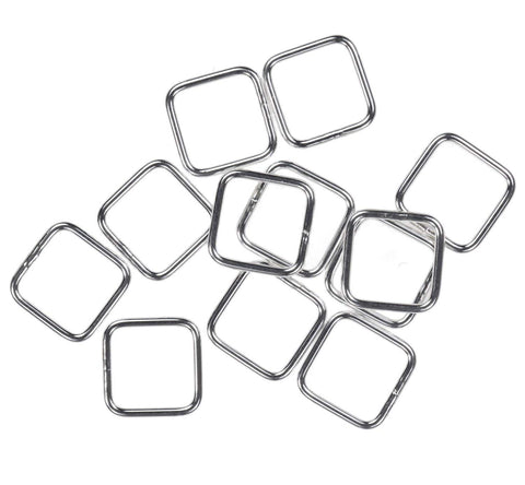 12 Sterling Silver Jump Ring Square 20ga 8mm Closed Rings