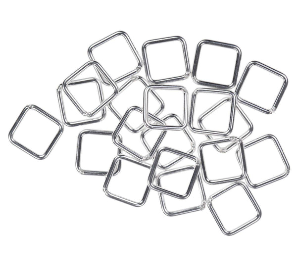 20 Sterling Silver Jump Ring Square 20ga 6mm Closed Rings