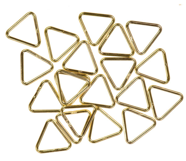 12 14K Gold Filled Jump Ring Triangle 20ga 7mm Closed Rings
