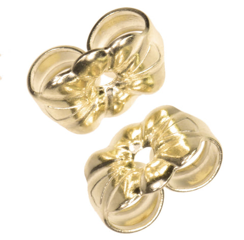 Solid 14K Gold Earring Back Butterfly Small 6mm 1-pair