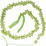 Peridot Smooth Drop Beads Tiny 5mm 14 Inch
