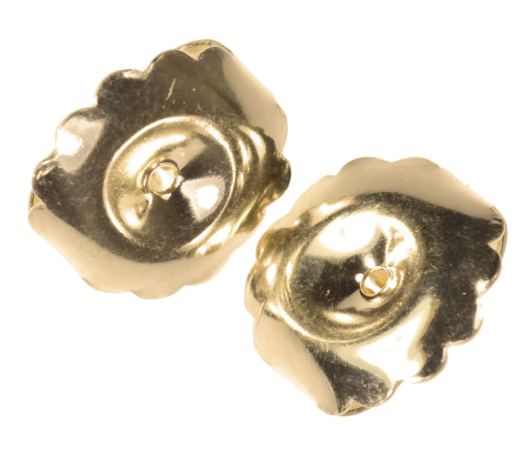 Solid 14K Gold Jumbo Earring Back Premium Extra-Jumbo Swirl 10mm 1-pair