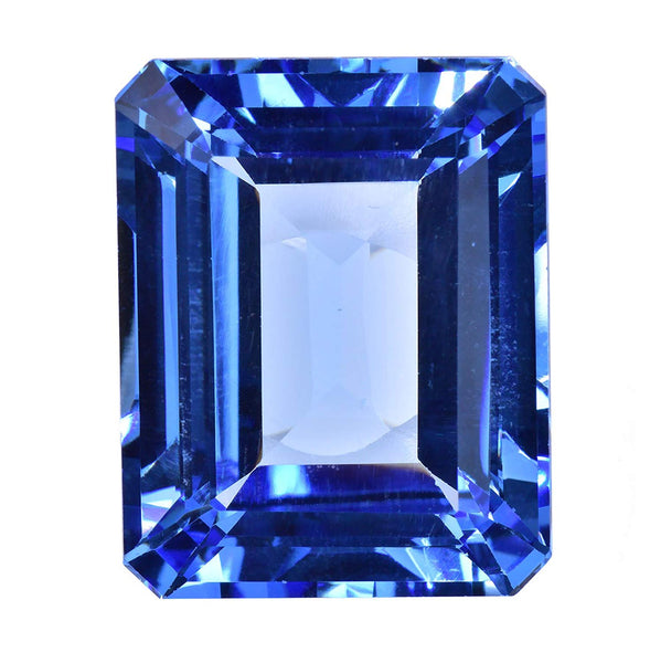 uGems Simulated Blue Topaz Rectangular Loose Facet 23mm