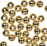 uGems Round Plain Beads Precious Metals USA Made