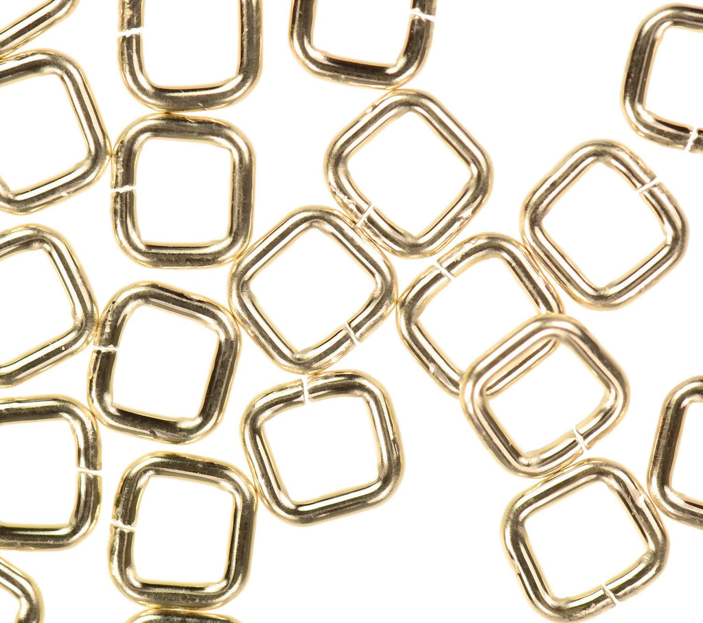 20 14K Gold Filled Jump Ring Square 20ga 4mm Open Rings