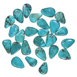 uGems Turquoise Briolette Pear Beads ~12mm-15mm Genuine (25)