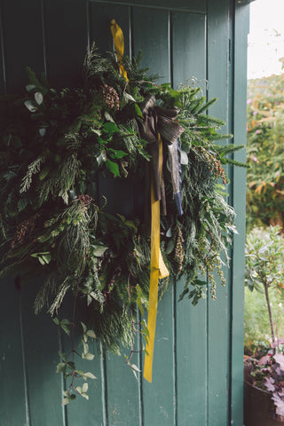 LUXURY FOLIAGE WREATH WORKSHOP - SUNDAY 8TH DECEMBER 2019- 11am - 1.30pm