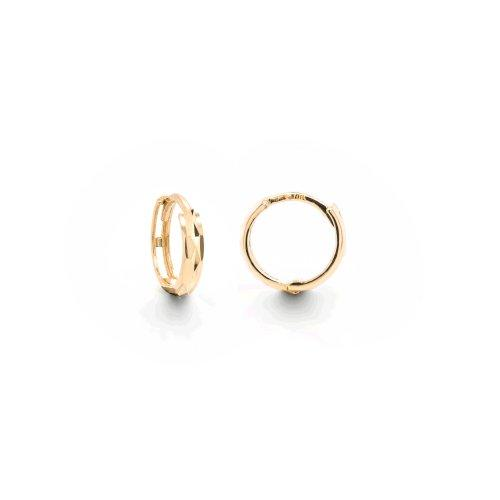 Cherie Textured Huggy Hoops - 10k Gold - Suetables