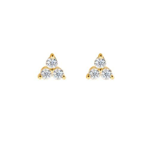 Diamond Tripod Stud 14k Gold - Suetables