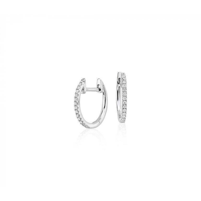 Leah 14k Gold Diamond Hoops - Suetables