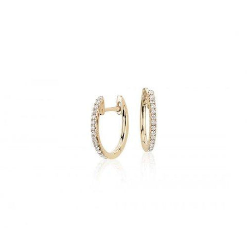 Leah 14k Gold Diamond Hoops