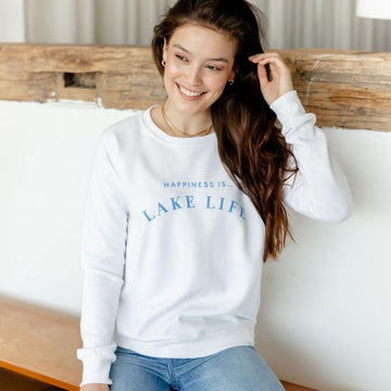 Happiness is... Lake Life Crewneck
