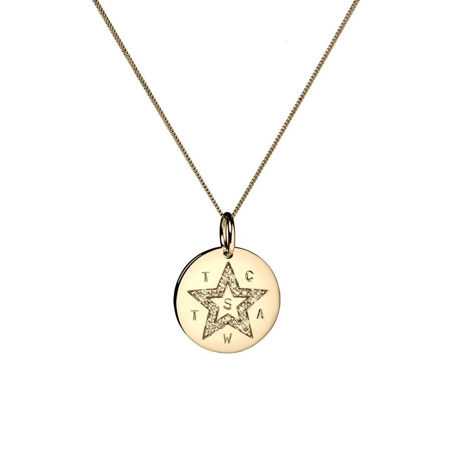 Avery Star Coin - silver, gold & rose gold - Suetables