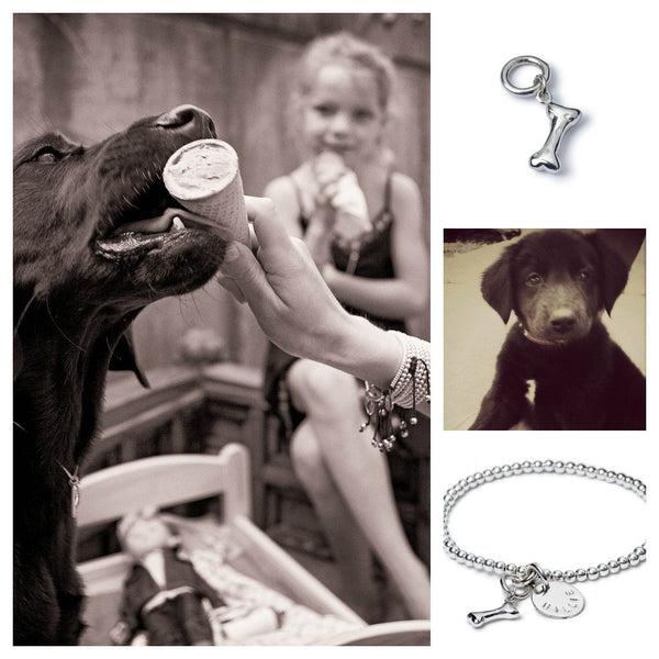 Billy Dog Bone Charm - Suetables