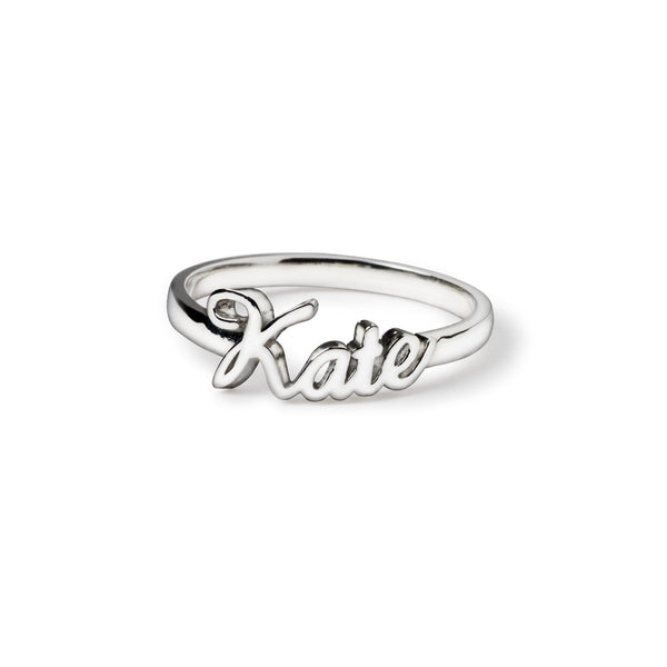 Constance Custom Script Ring - Suetables