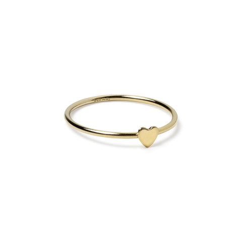 Dinah Gold Heart Ring - Suetables