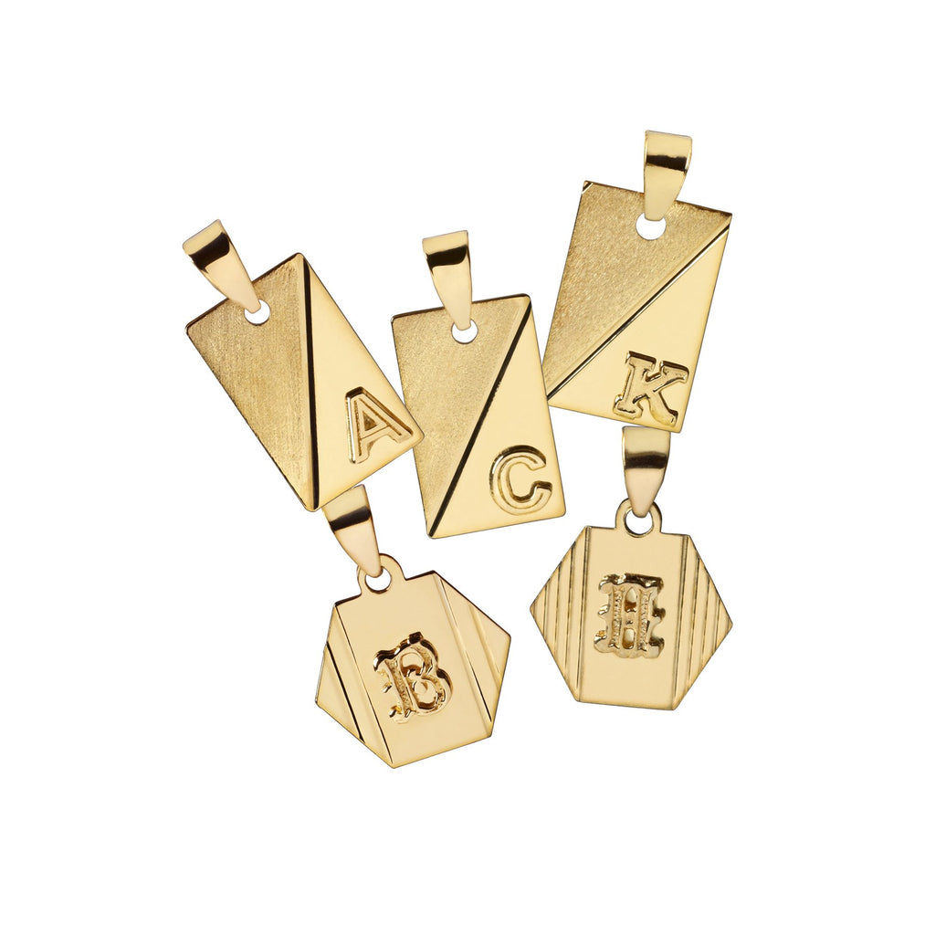 Henderson 10k Gold Heirloom Letter Pendant