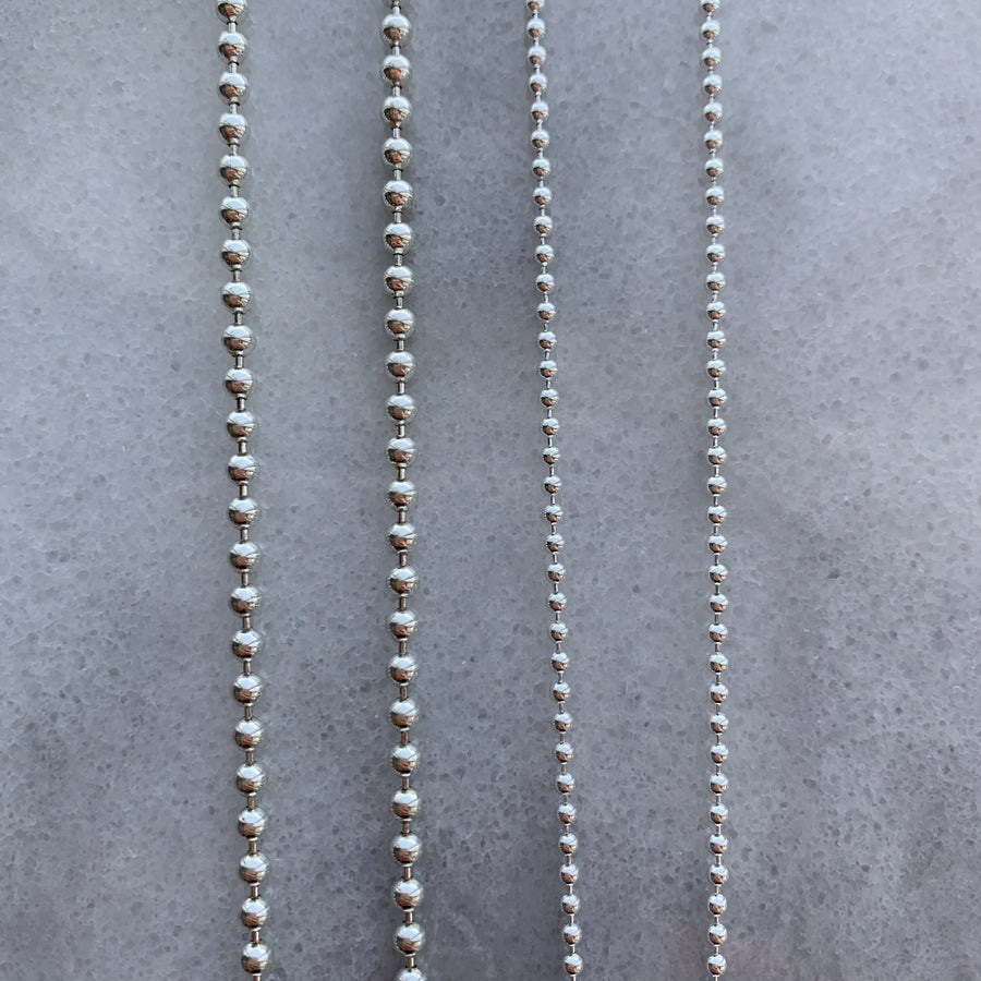 Ball Chains - Sterling Silver - Suetables