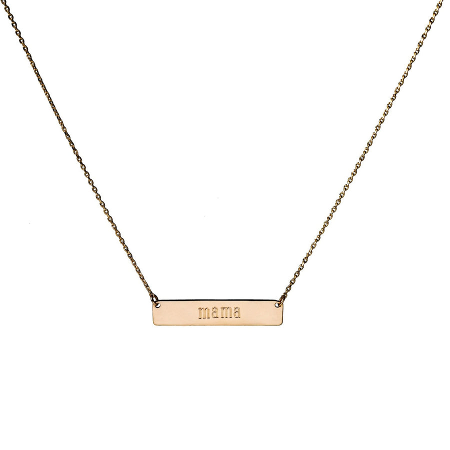 Lexi Nameplate Bar - 10k Gold