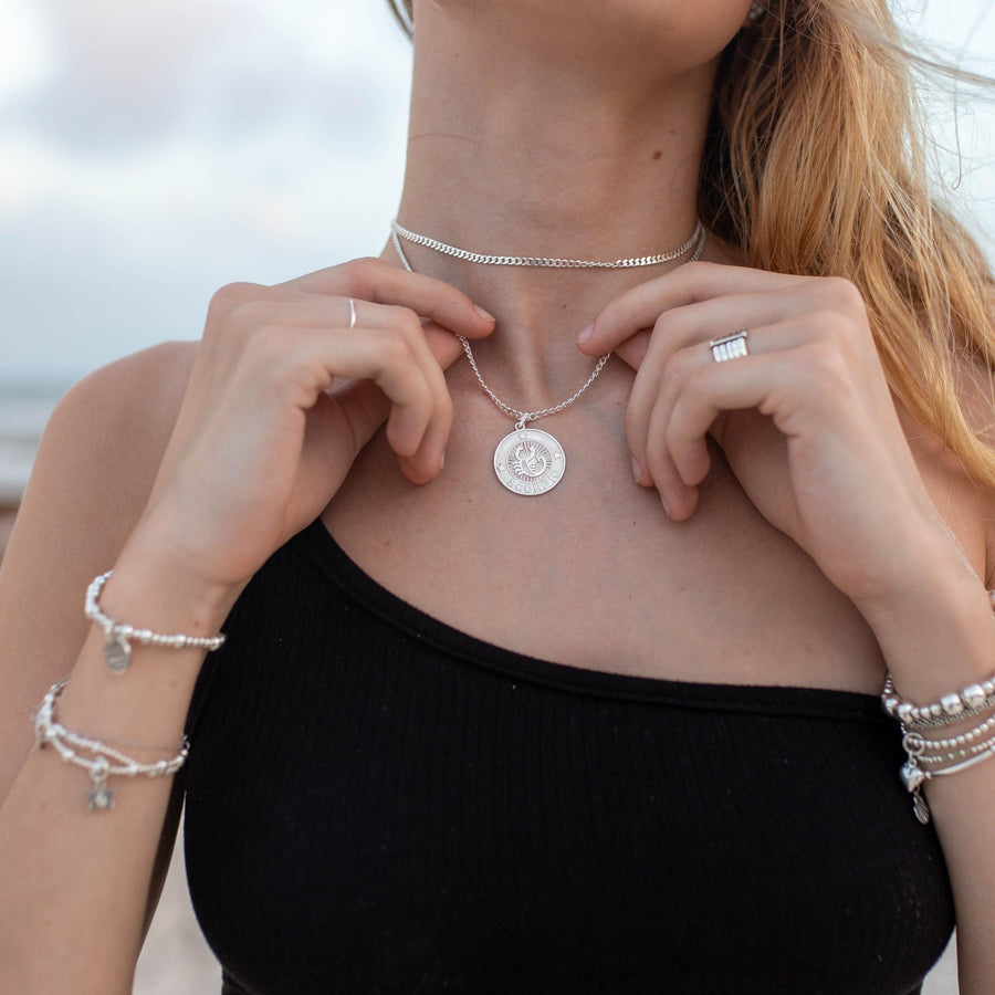 Large Vanessa horoscope - sterling silver - Suetables