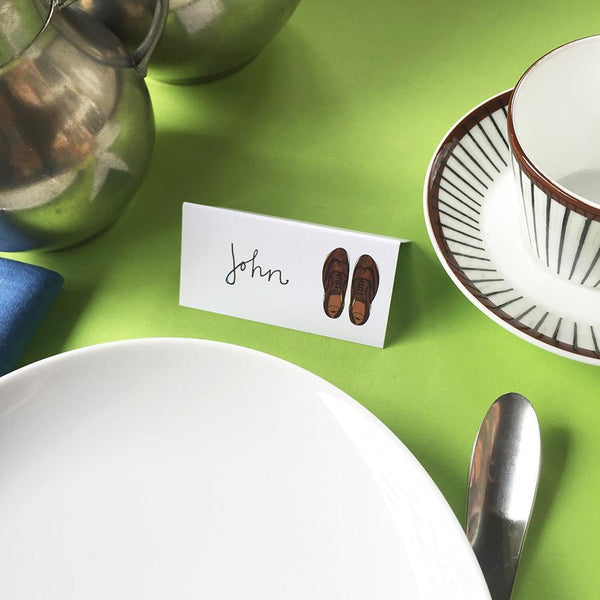 Style & Soul Party Placecards - 'If The Shoe Fits' - 12 name cards - Suetables