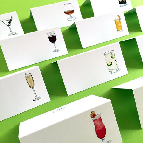 Style&Soul Party Placecards - Fine Spirits - 12 name cards - Suetables