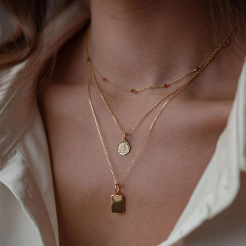 Paige Tag - sterling silver, gold & rose gold dipped - Suetables