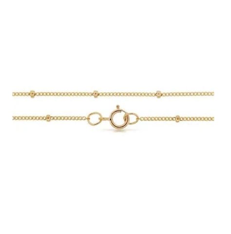 Delicate Satellite Ball Chain - Gold-Dipped - Suetables