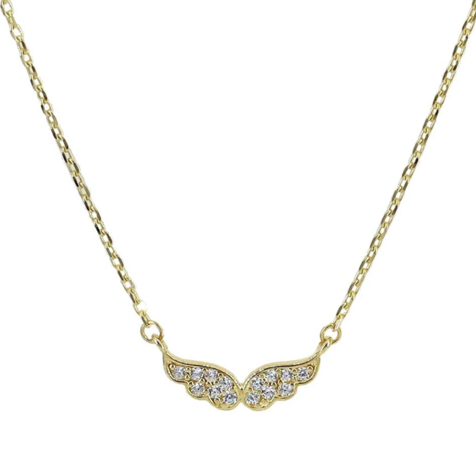 Angelina 10k Gold Angel Necklace - Suetables