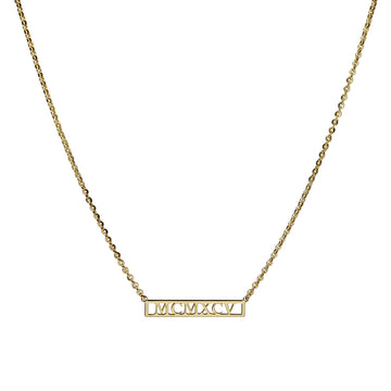 Grace Custom Roman Numeral Necklace