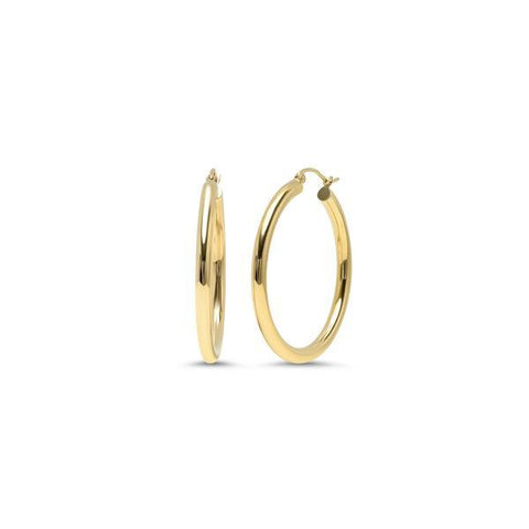 Bethany Thick Hollow Hoops - Gold-Filled - Suetables