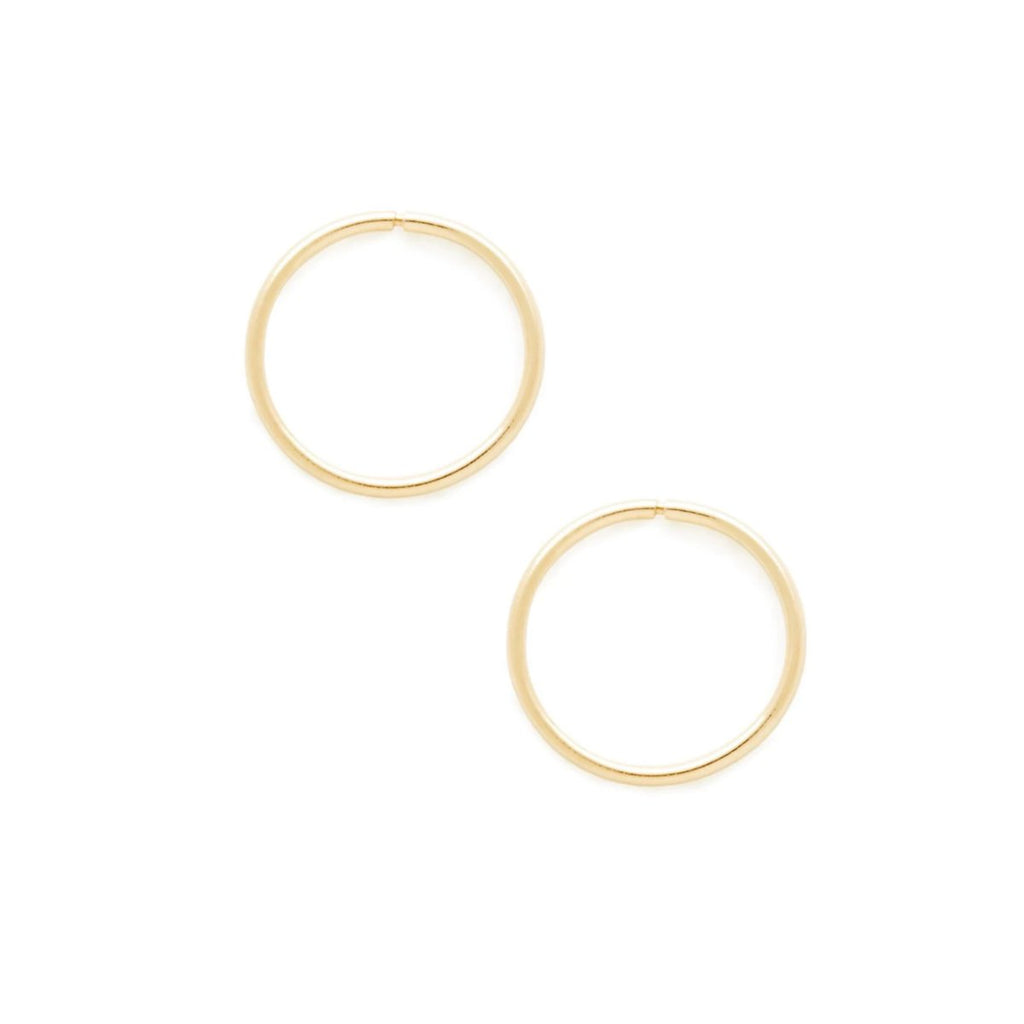 10k Gold Bryant Hoops - Suetables