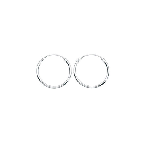 Holly Endless Silver Hoops