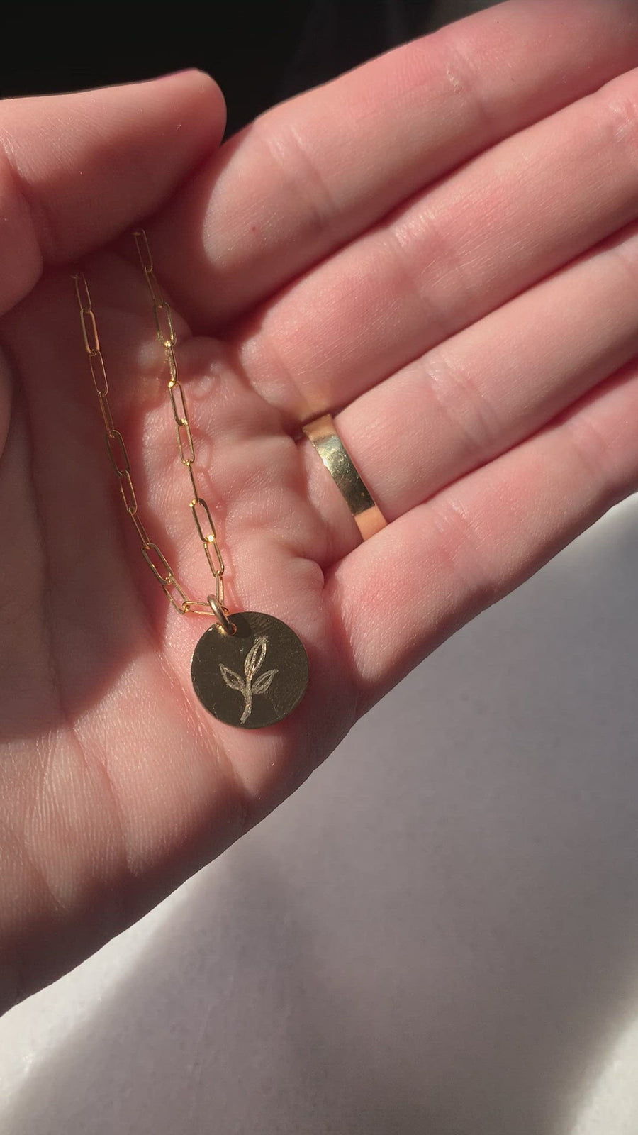 Brie Hand-Drawn Leaf Charm