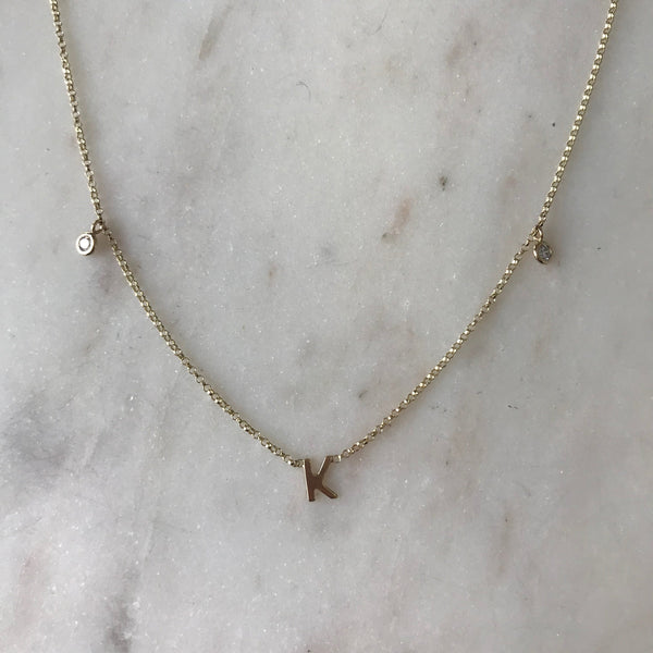 Kylie Custom Diamond Letter Necklace - Suetables