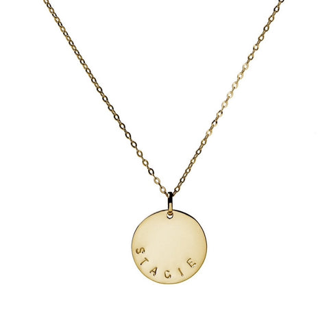 Loretta 10k Gold Coin Necklace
