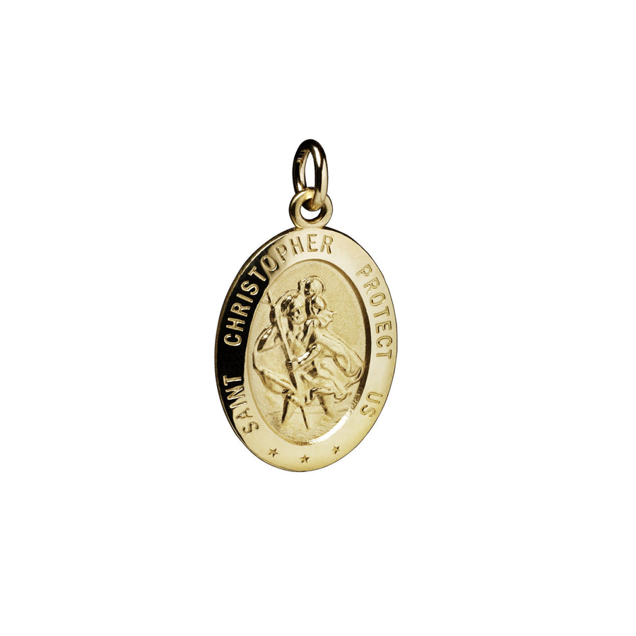 St. Christopher Protection Oval Charm