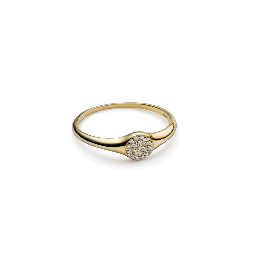 Louie Diamond Pave Signet Ring