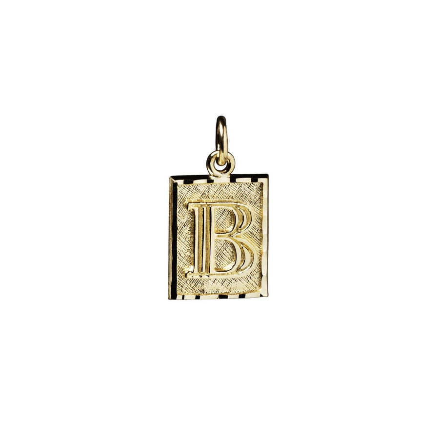 Ruth Rectangle Letter - 10k Gold