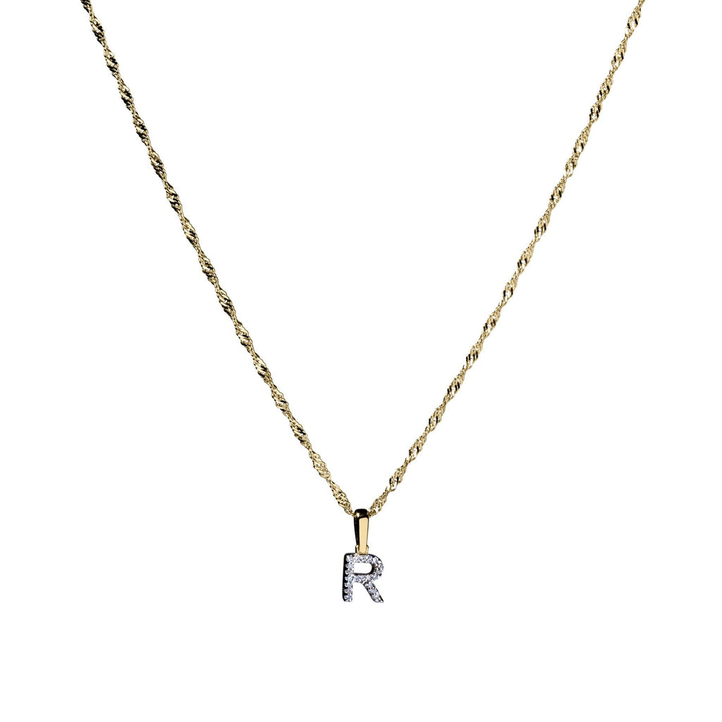 Michaela 10k Gold Diamond Initial - Suetables