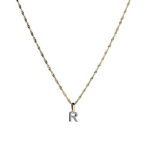 Michaela 10k Gold Diamond Initial