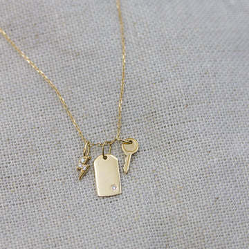 Harper Diamond Charm Necklace