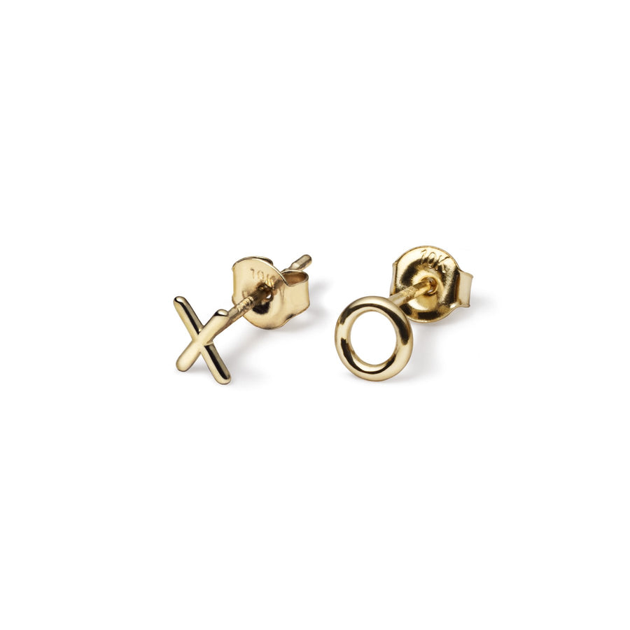 Mini XO Studs (10k Gold)