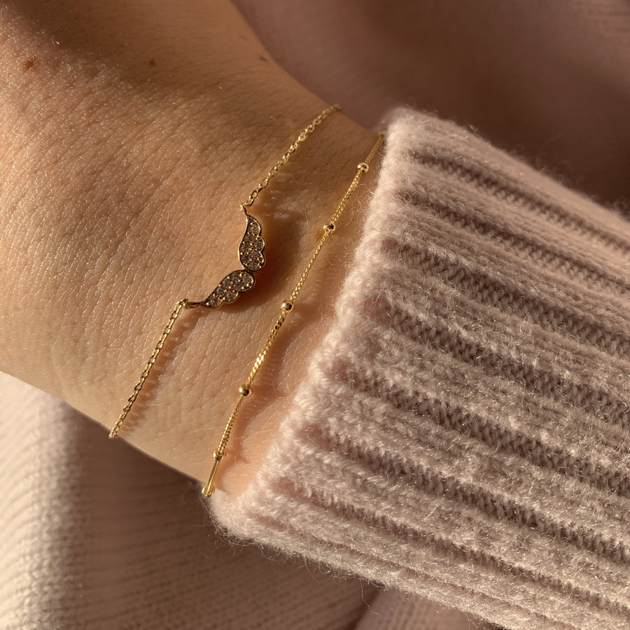 Angelina 10k Gold Angel Bracelet